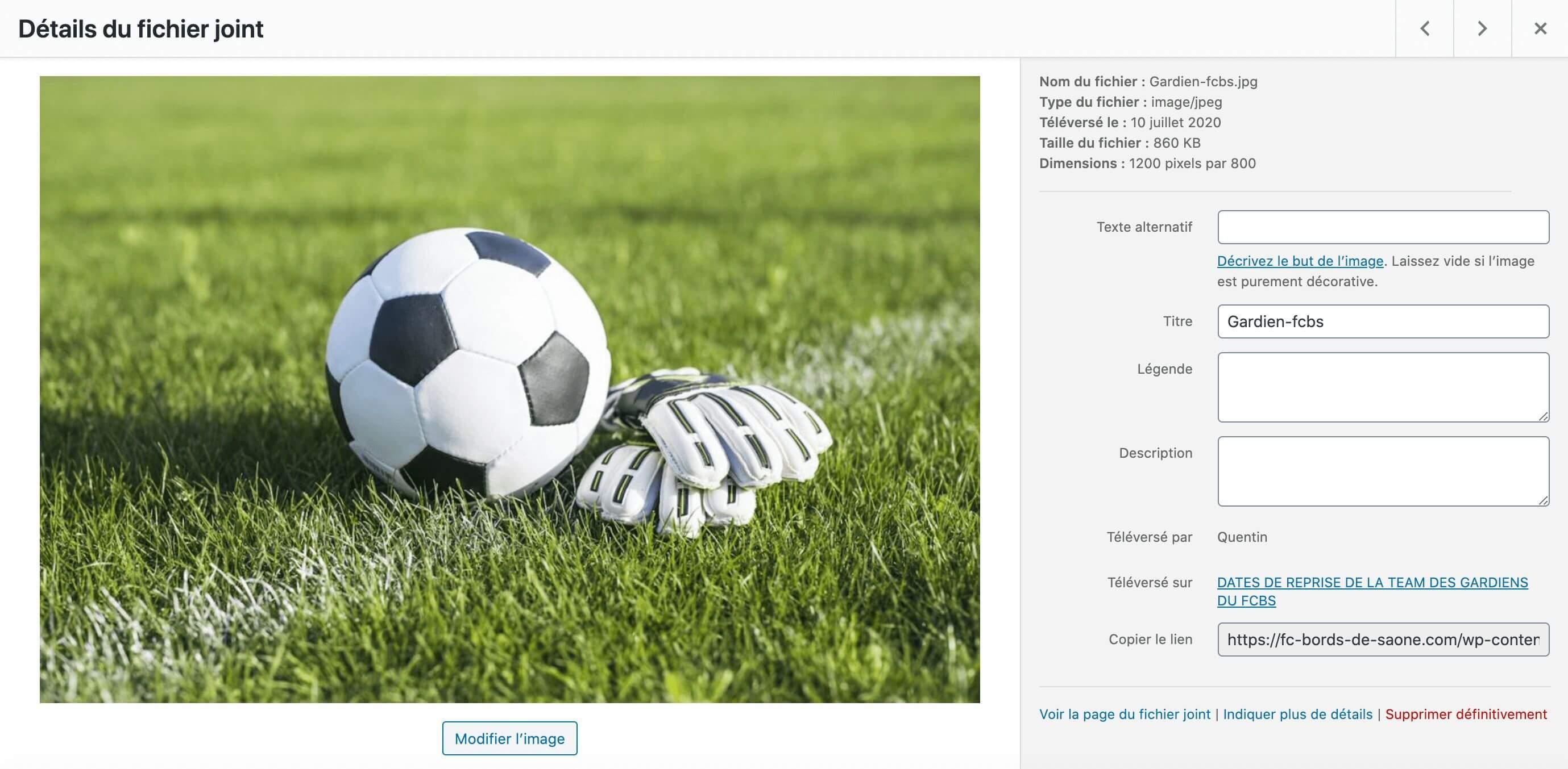 Exemple d'un texte alernatif sur une image WordPress