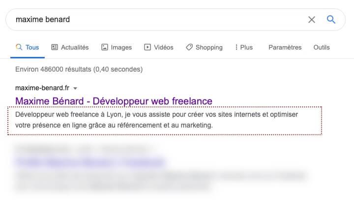 meta-description du site maxime-benard.fr