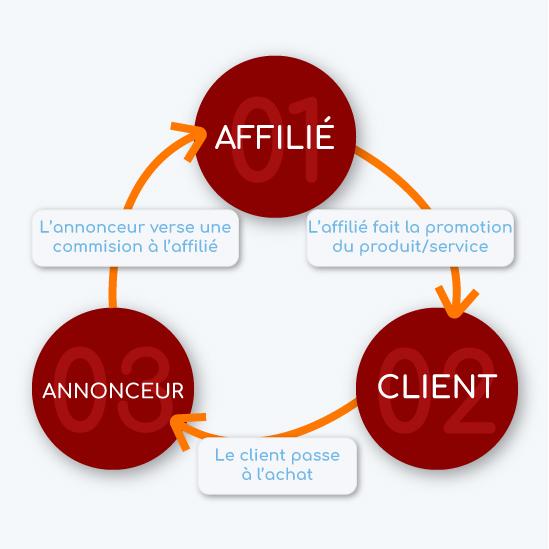 Schéma expliquant le modèle de l'affiliation